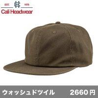 6パネル アンストラクチャード ウォッシュドツイルキャップ [WT92] Cali Headwear-カリ ヘッドウェア