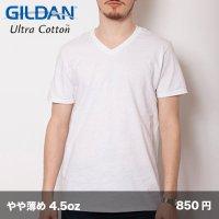 4.5oz ソフトスタイルVネックTシャツ [64V00] gildan-ギルダン