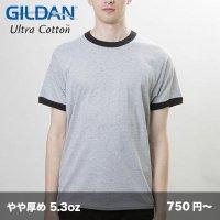 5.3oz ジャパンフィット リンガーTシャツ [76600] gildan-ギルダン