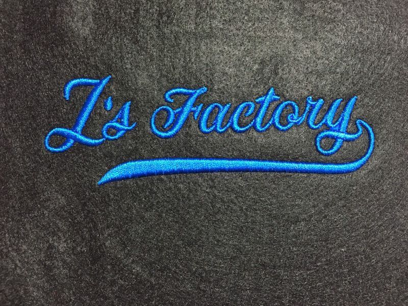 刺繍試し縫い