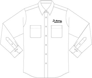 ワークシャツ左胸刺繍-製作イメージ