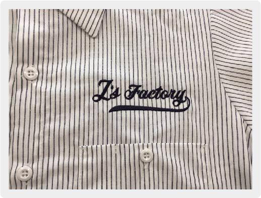 刺繍サンプル画像-シャツ,キャップサイド